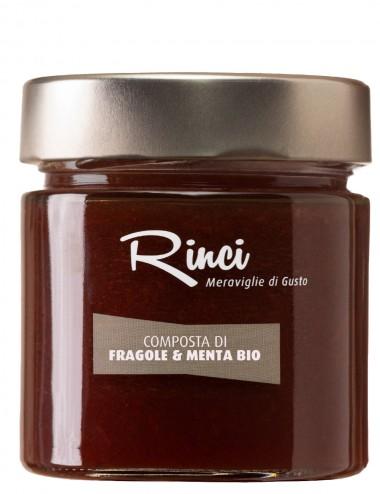 Composta di Fragole e Menta Bio 220gr Preserves and Jams Shop